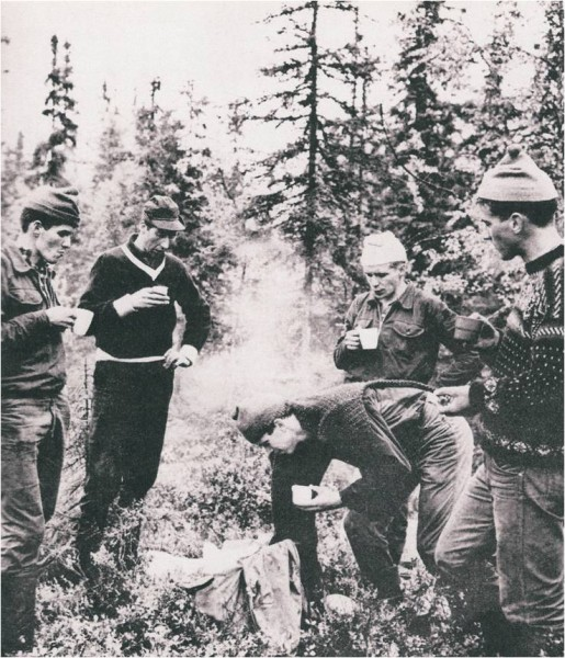 Gjermund Eggen, Harald Gr&oslash;nningen, Reidar Hjermstad, Jo Eggen og Johs....
