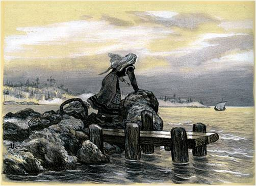 Vainamoinen builds a boat