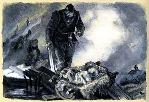 Ilmarinen Takes Kullervo into his House