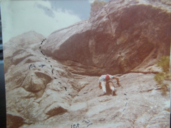 Cildren of the sun,, 5.10 R  Whites Wall  june 78  B Nagel, RA