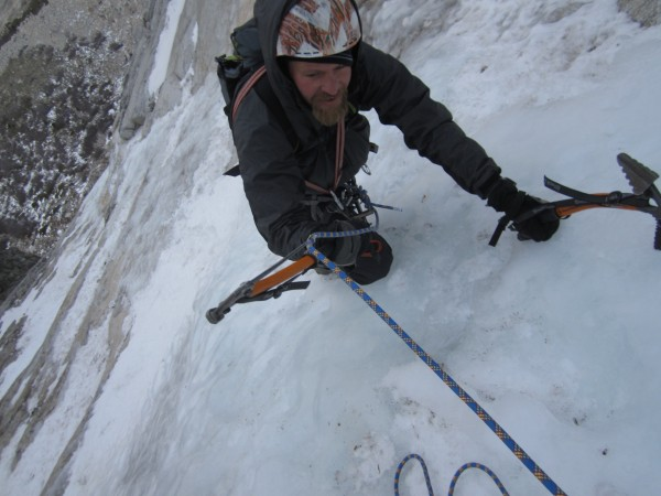 tape an ice axe to the wall