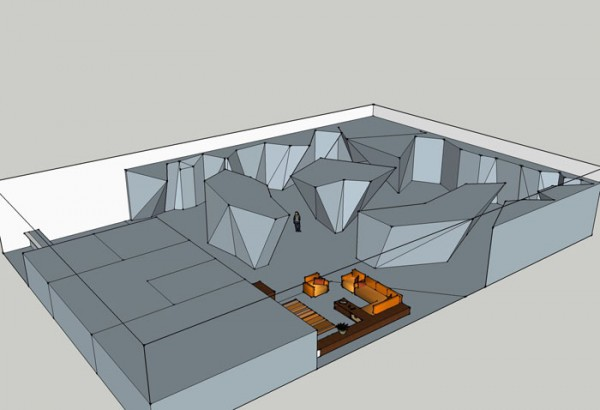 Google Sketchup used to do quick designs of climbing gym. <br/>