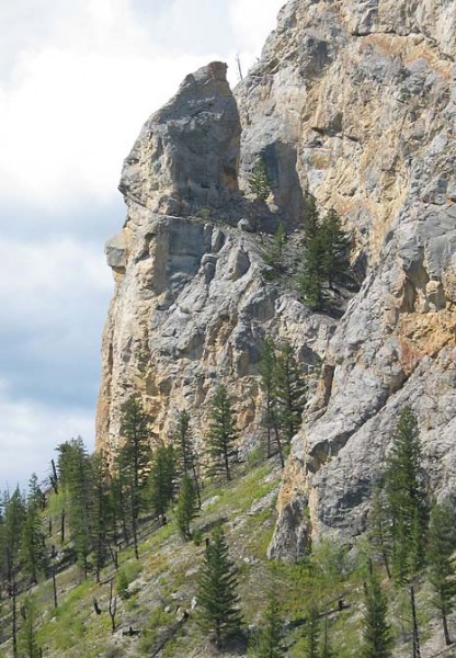 Schism Rock, just above the Canoe Creek road.