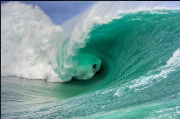 nathan fletcher - tahiti - sending it... <br/> Photo from Ian Walsh collec...