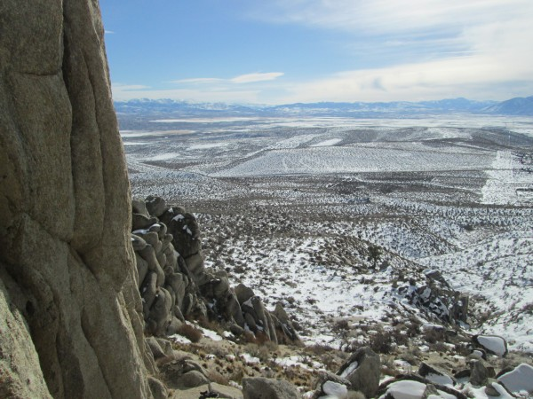 Overlooking Carson Valley from the base of Sunny Delight.  9 Jan 2013.