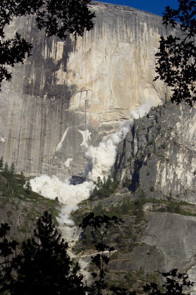 27 July 2006 rockfall from the NW face of Half Dome.