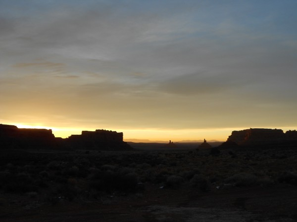 Looking south at sunrise