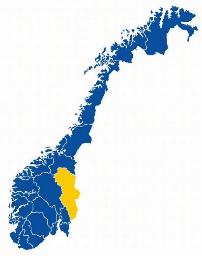Hedmark in yellow.
