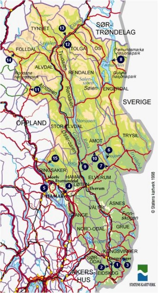 Hedmark with Grue, Trysil and Rendalen.