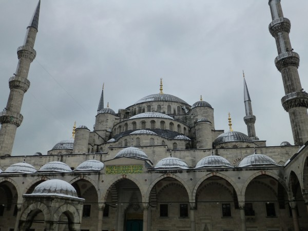 We went to the Blue Mosque...built during a 7 year period in the early...