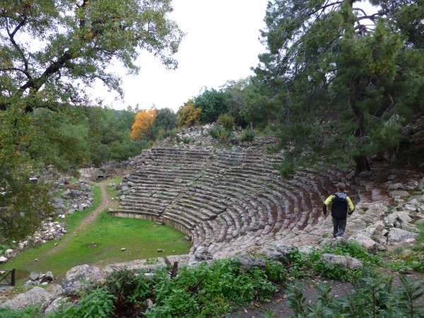 The amphitheater at Phaselis