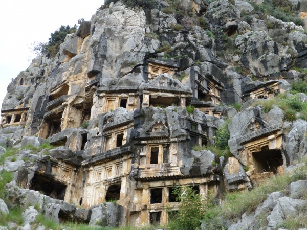 The tombs at Myra, carved out of the limestone!