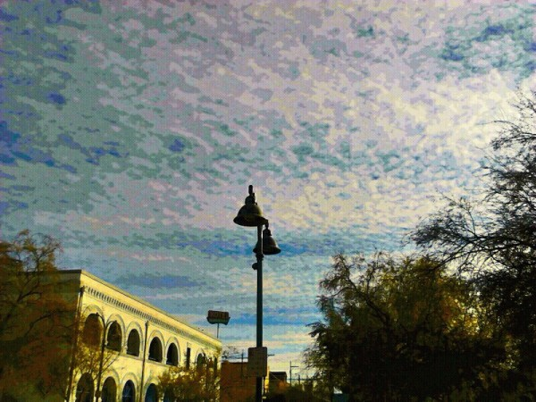 Outside the Temple of Music and Art, Tucson AZ <br/>