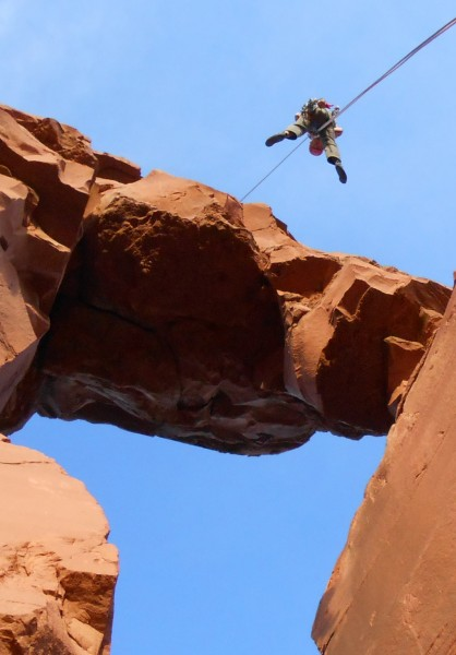 2012-11-15 - Rappel 2, rappelling the arch!