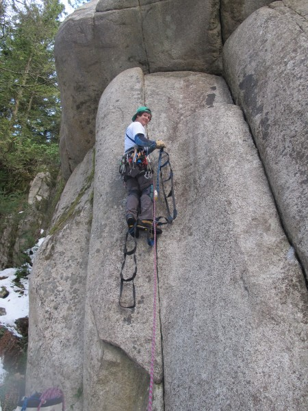 First Ascent of Cariboo Crack Jan. 15th 2013