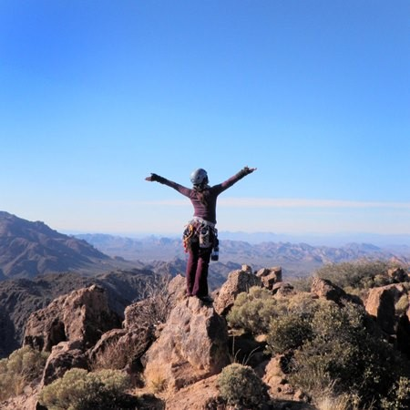 Lauren on the summit-yay we made it. -oops, guess not all pics taken b...