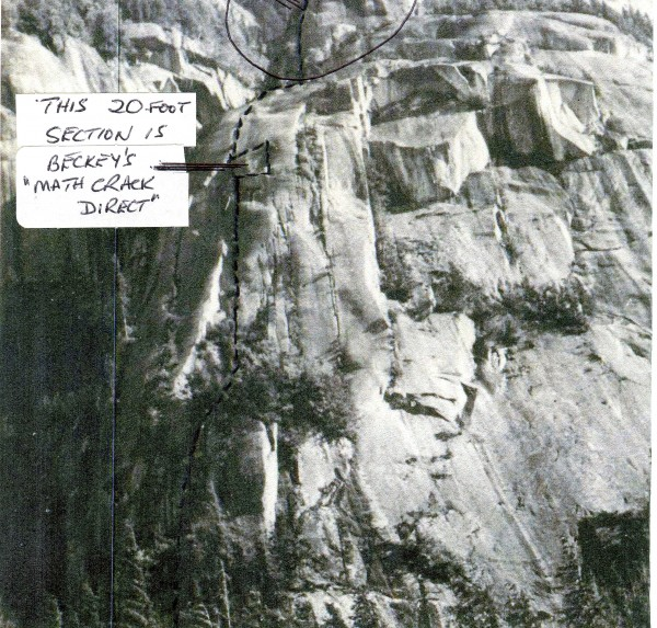Original 1962 line of South Arete.  The 1966 Math Crack Direct variati...