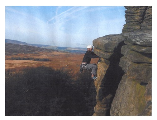 Andy climbing at Stanage Edge... makes you want to get there, doesn't ...