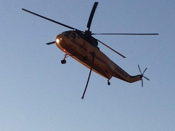 Sikorsky S-61 landing Payson, AZ June 21,2012