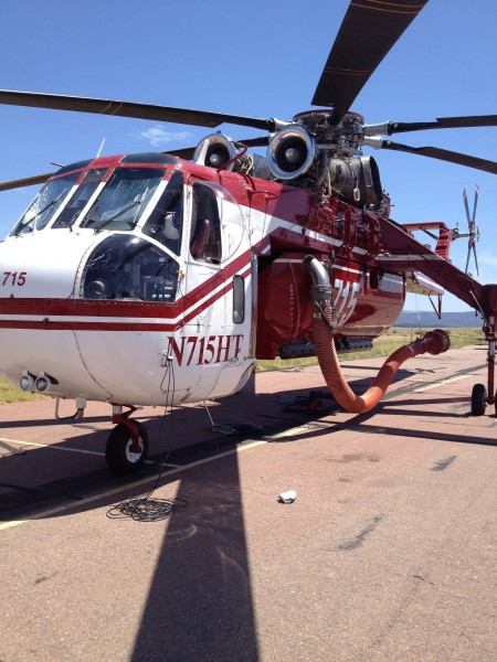 "Sikorsky ""Skycrane""  with 2000 gallon fixed tank and snorkel"