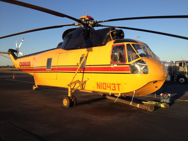 Sikorsky S-61.  This aircraft flew over 600 hours on the Texas wildfir...