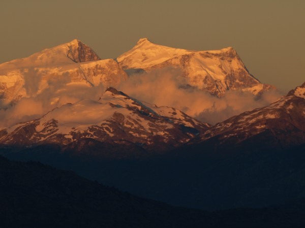 San Valentin, highest peak in Patagonia. Right hand ridge still needs ...