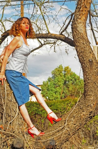 Leggs in a tree... with heels on??  <br/>