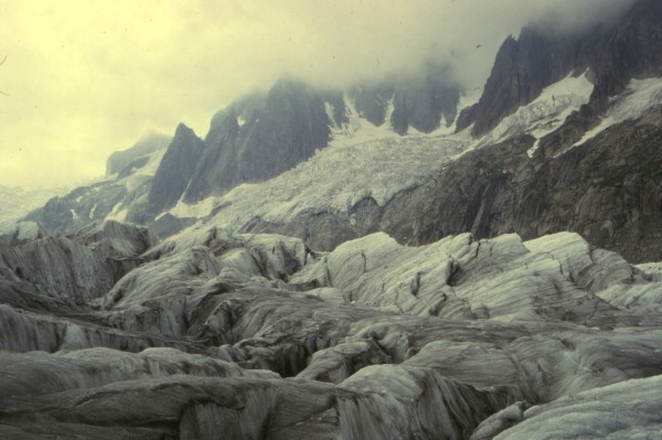 round the corner of the Mer de Glace - 1973/75?