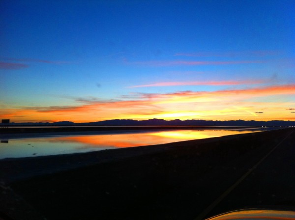 Salt lake sunset