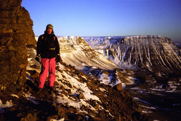 Winter ascent of Mt. Esja, Iceland, 2002