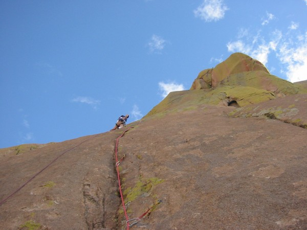The slab and crack on pitch three.