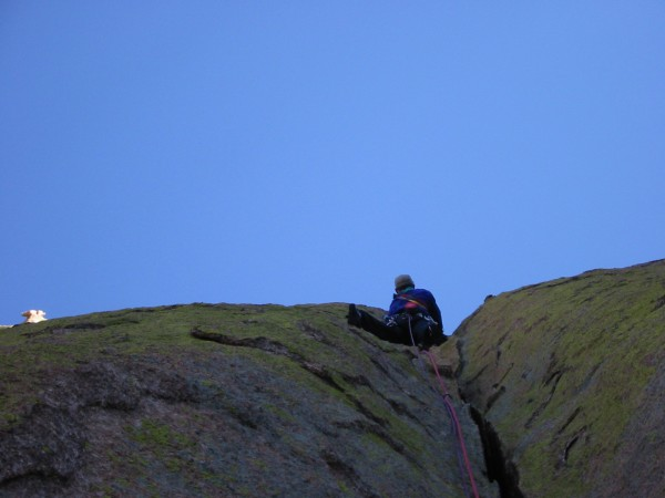 Loz on a very cold pitch two of Days of Future Past. The sun was tanta...
