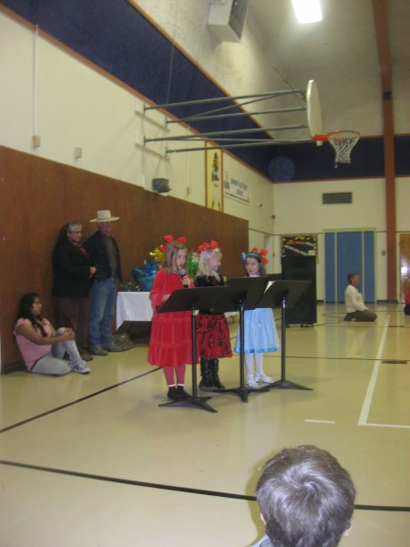My daughter Isabel on the left at a public school function