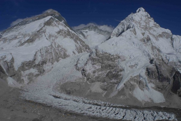 Everest, Lhotse and Nuptse as seen from the South Ridge of Pumori.