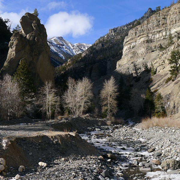Deer Creek drainage at the bridge