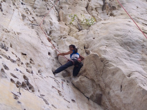 Here is Jheryl climbing Never Ending Story 5.12a the longest route at ...