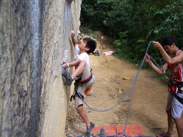 This is Jano leading one of the best 5.11a routes I've ever done. All ...