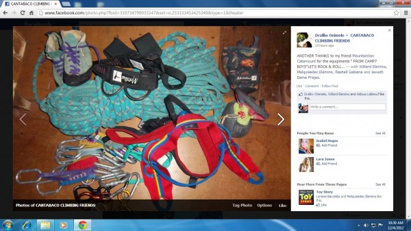 this is the gear donated to Campo Siete's climbing group. Muchas Graci...