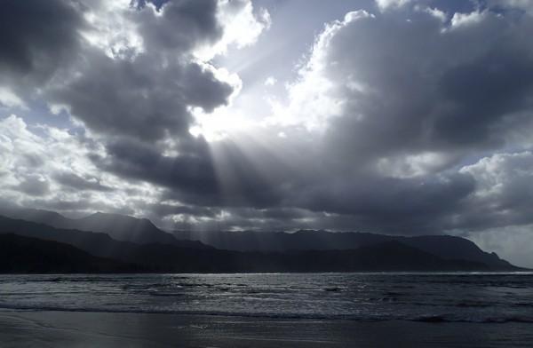Hanalei Bay in Kaua'i...