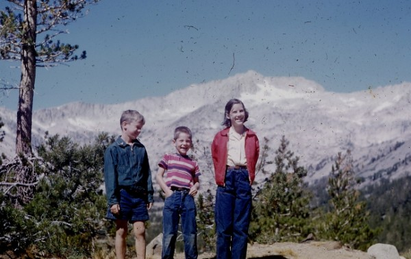 Ken, Philip, and Barbara Boche, 1952, Near Tioga Pass.