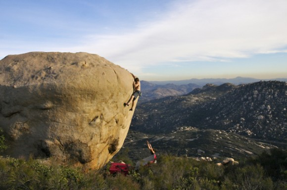 Ethan Pringle on Grainstorm, 5.12 - Mt. Woodson