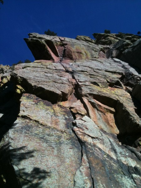 Grandma's one of my favorite crack climbs. Stretch a 70m and take 1 #4...