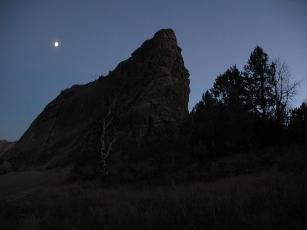 Idaho, but despite the moon I didn't hear any wolves howling.