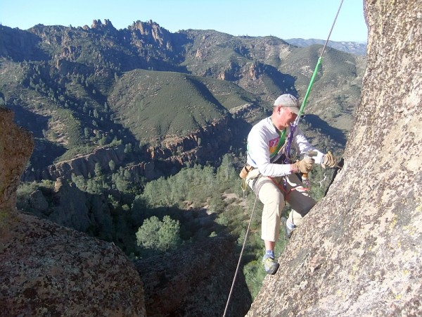 Bruce replacing a bolt on Marmot Rock, 1/16/2013 <br/> It's a blow tube he...