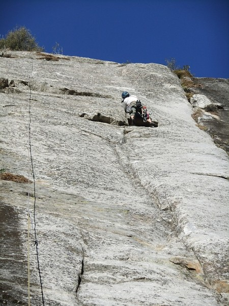 Bob checking out an unlisted Ron Skelton route, prior to replacing 3 o...