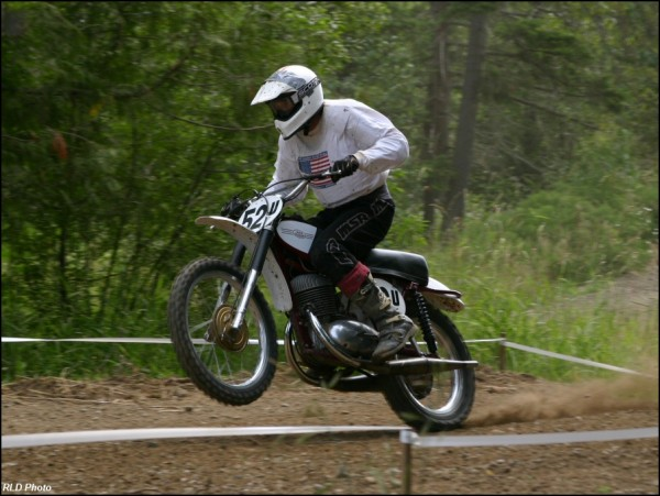 This is 1963 Jawa 350 twinpipe motocrosser. The only one racing in the...