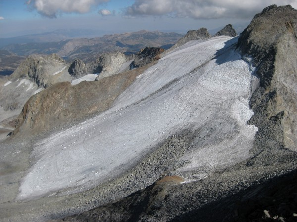 Lyell Glacier from Mount Maclure