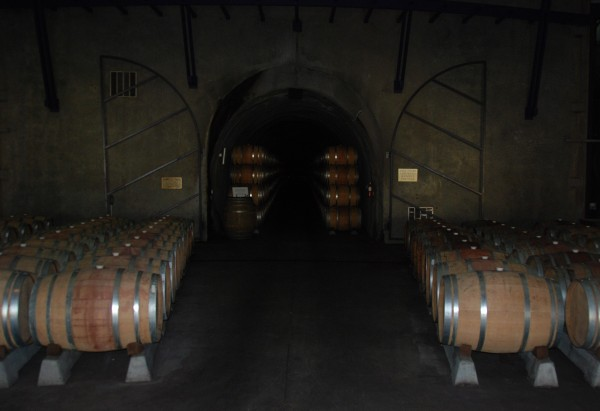 wine cave at Justin