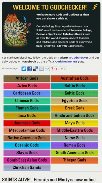 keep your gods straight... http://www.godchecker.com/