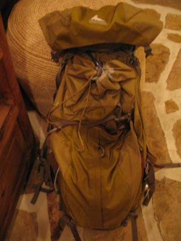 My latest pack, a Gregory. This coming summer working in the Eastern S...